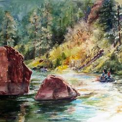 Autumn Float on the Green River - limited edition prints available