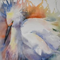 """Focused Energy 11""""x13"""" watercolor"""