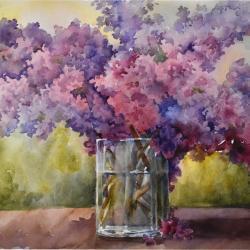 """Fragrant Bouquet 13""""x19"""" watercolor"""