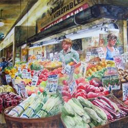 """Locally Grown 22""""x29"""" watercolor"""