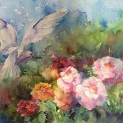 "Summer Song 14""x20"" watercolor"