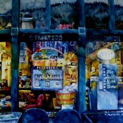"Winter Perk 18""x30"" watercolor"